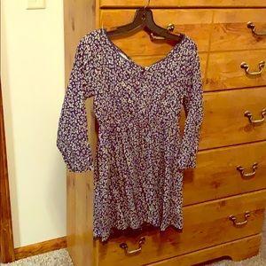 Long sleeve blue dress! 😊